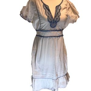 """""""Oasis"""" Embroidered Cotton Dress."""